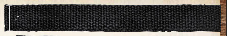 3/4 Inch Hemp Webbing - Romanian - 50 Meter Coil Black