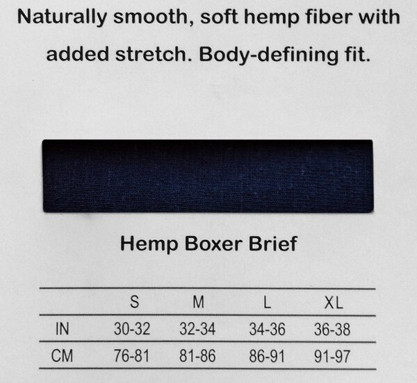 Hemp Boxer Sizes