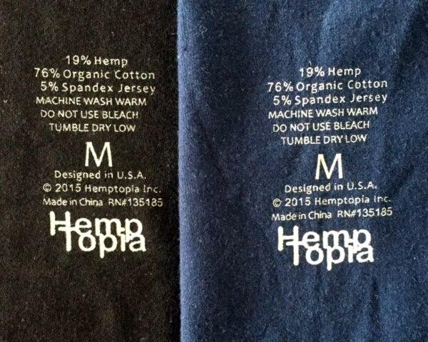 Hemp Boxer Briefs (Blue or Black) - by Hemptopia Multiple Sizes