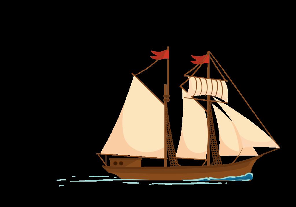 Hemp Sail Boat