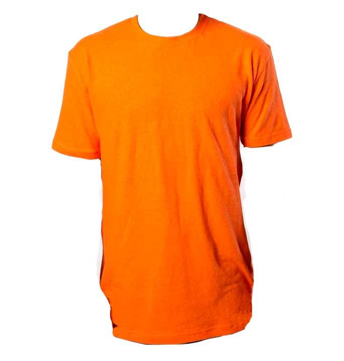 Blank Orange Hemp T-shirt